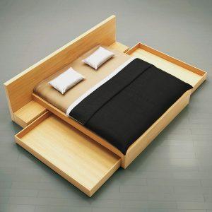 Posteľ LULU na mieru, s úložným priestorom pod posteľou, dizajnová elegatná posteľ Brik Kremnica