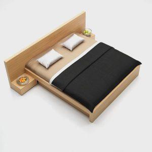 dizajnová posteľ LULU, Brik Kremnica, nábytok a postel na mieru, dub, Brik kremnica