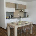 Nábytok na mieru, Jedálenský stôl Platón 120 cm, pre 4 osoby, Brik kremnica