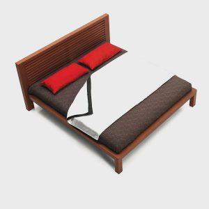 Posteľ Alica, Brik kremnica, postele a nábytok na mieru, dizajnový dyhovany nábytok Brik kremnica