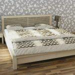 Brik kremnica, posteľ alica, dub bielený, postele na mieru, dizajnový nábytok na mieru