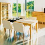 Jedálenský stôl ROMAN, stoličky Vanda , dizajnový moderný nábytok, dub dyha prírodný, Brik Kremnica