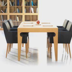 Jedálenský stôl ROMAN, BRIK Kremnica , dub prírodný