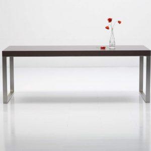 Jedálenský ako aj pracovný stôl NERO 3 s nerezovou podnžou, dyha wenge, BRIK kremnica , nábyotk na mieru