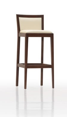 Barová stolička MICA, Brik Kremnica, masívna podnož. čalúnený sedák a chrbát