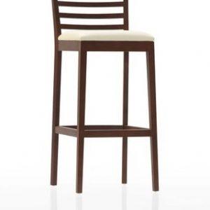Barová stolička Este, Brik kremnica, masívna podnož, čalúnený sedák.