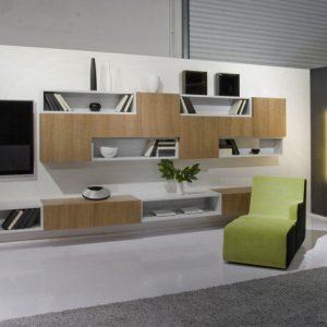 Obývacia TV zostava Domino, moderný a dizajnový nábytok na mieru, Brik Kremnica