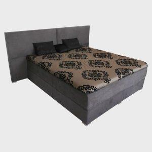 Celočalúnená manželská posteľ SPLIT 2, boxspringová posteľ, látková, kožená, dizajnová posteľ Brik Kremnica