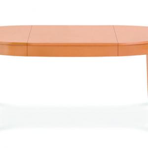BRIK stôl okrúhly rozťahovací, masívne nohy , retro