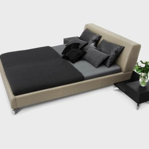 Brik Kremnica, Posteľ Medea, čalúnená kožená moderná dizajnová posteľ , výroba na mieru