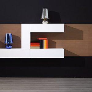Moderná obývacia TV stena , na mieru, umiestnenie na stenu, biela , dub, Brik kremnica