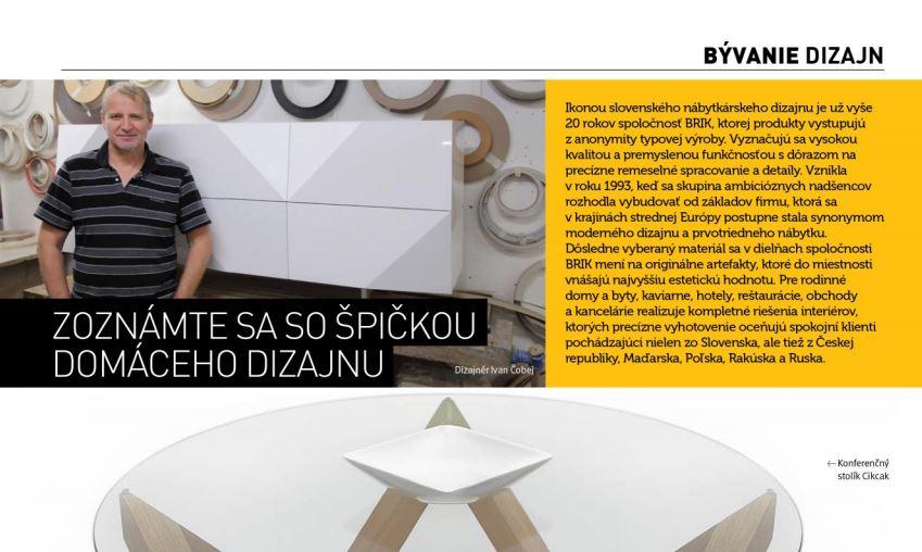 Zoznámte sa so špičkou slovenského dizajnu – BÝVANIE DIZAJN