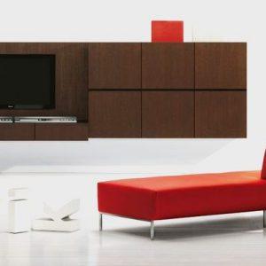 Obývacia zostava na stenu, TV zostava AVI - moderný dizajnový nábytok , na mieru BRIK Kremnica