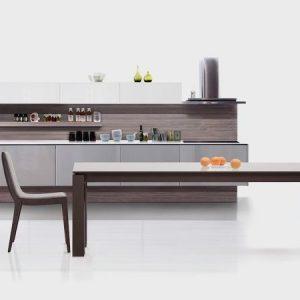 Moderná dizajnová stolička MONTE, čalúnená sivá látka. Brik Kremnica