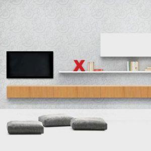 Obývacia zostava New Flex, interiéri na mieru, Brik kremnica