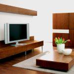 brik kremnica - tv obývacia zostava , dub a biela matná