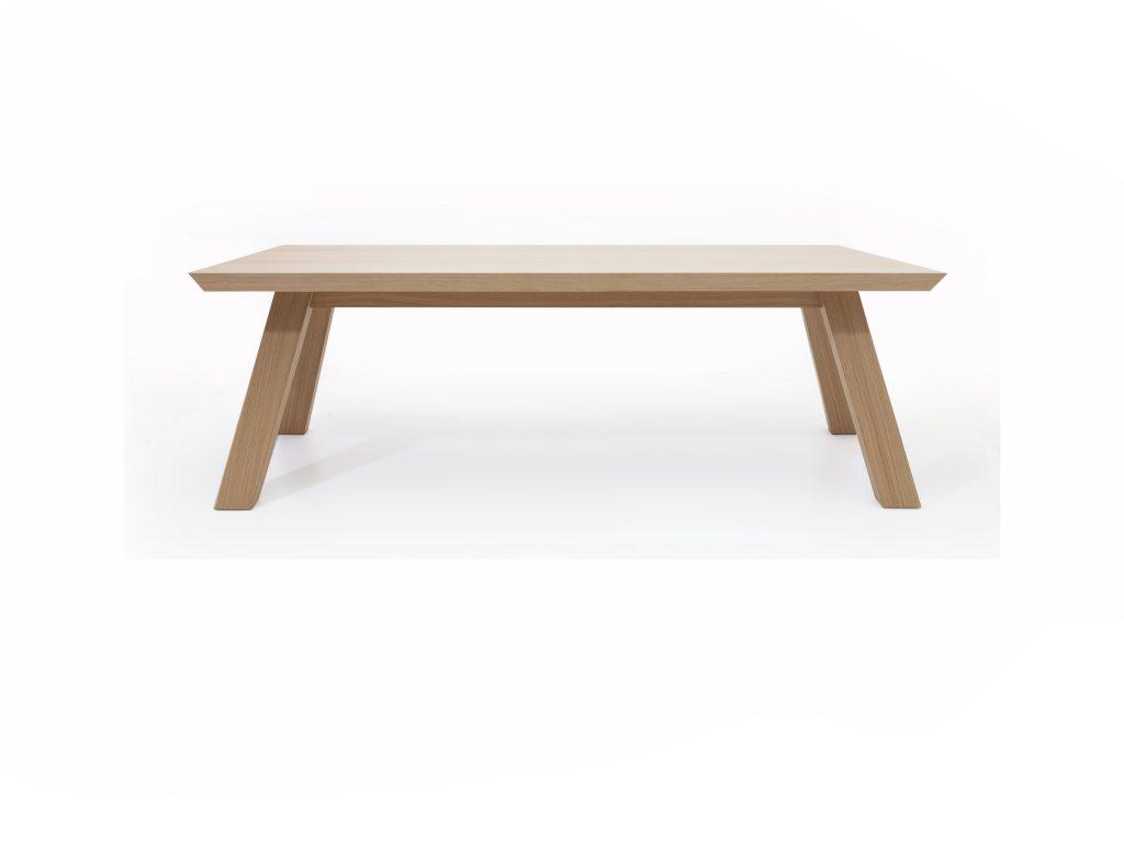 Dizajnový zaujímavý jedálenský stôl Argo, dub, buk, detialné prepracovanie, Brik kremnica