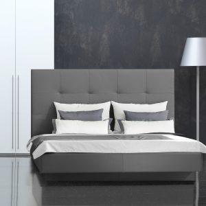 Dizajnová posteľ Infinito, čalúnený chrbát, vysoký, Brik kremnica