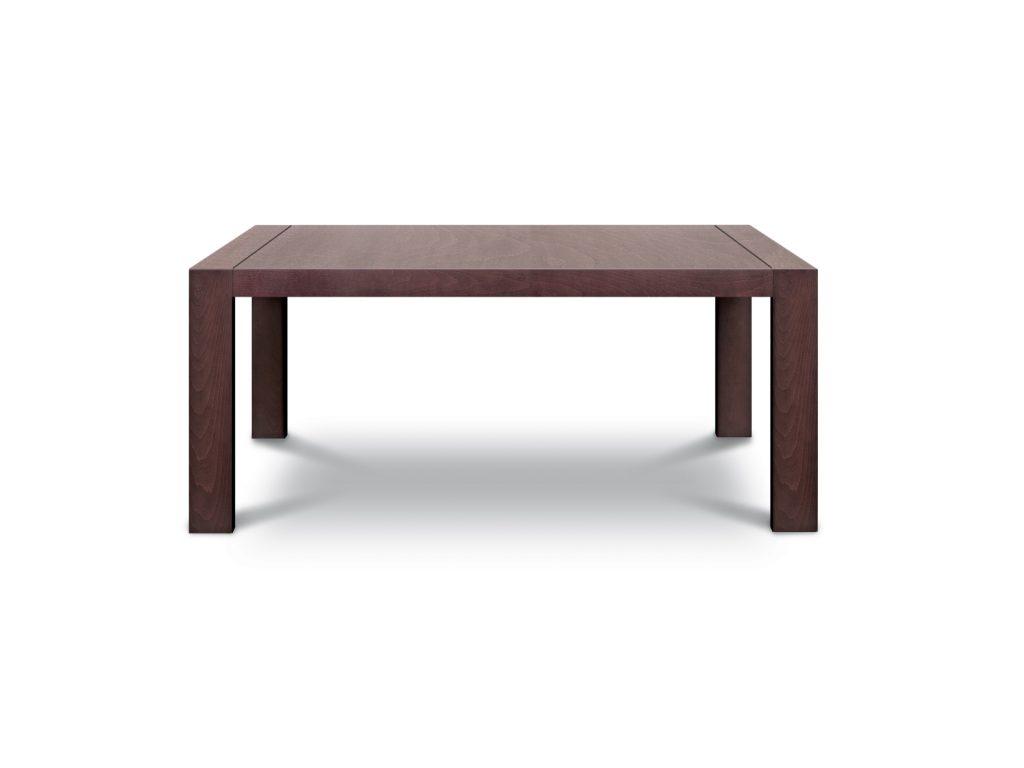 Stôl Stôl KUBO masívne hranaté nohy, dýha dub, BRIK Kremnica