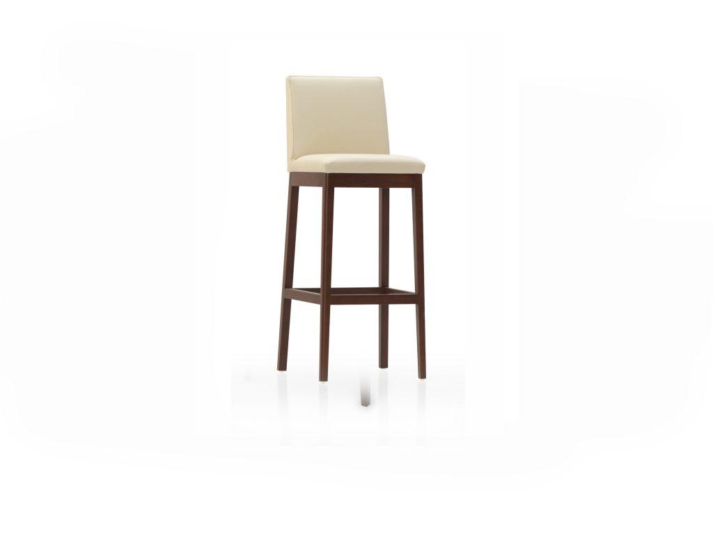 Barová stolička OLGA, čalúnená , látková , kožená , dub, buk Brik Kremnica