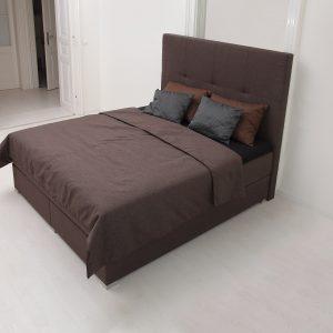 čalúnená posteľ SPLIT , látková, hnedá posteľ, výroba na mieru, Brik kremnica