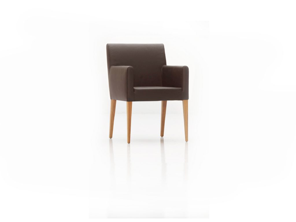 Dizajnová stolička VANDA , čalúnená, látková, kožená BRIK Kremnica