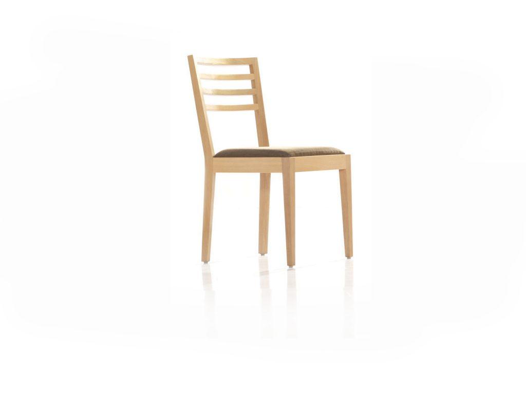 Masívna stolička Zuza ZS 1, buk, dub, čalúnený sedák