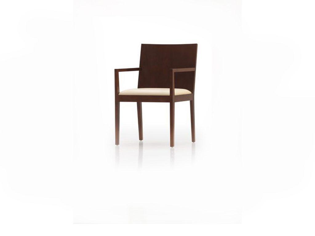 Masívna stolička Andrea, prevedenie Dub, čalúnený kožený sedák