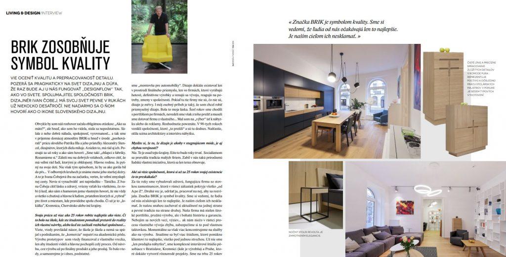 BRIK ZOSOBŇUJE SYMBOL KVALITY – Living&Design