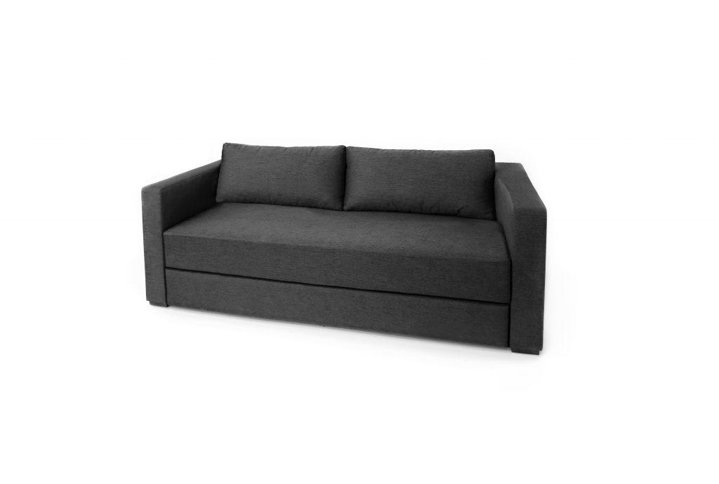 Moderná čalúnená sivá sedačka - rozťahovacia . Brik Kremnica