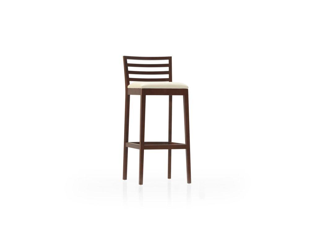 Barová stolička ESTA s čalúneným podsedákom , masív DUB , Brik Kremnica