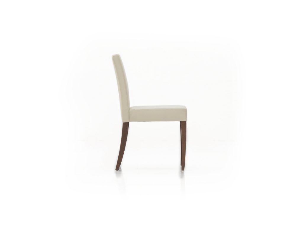 BRIK Kremnica - dizajnová čalúnená stoličky ESTA so zaoblenými nohami a zadnou opierkou