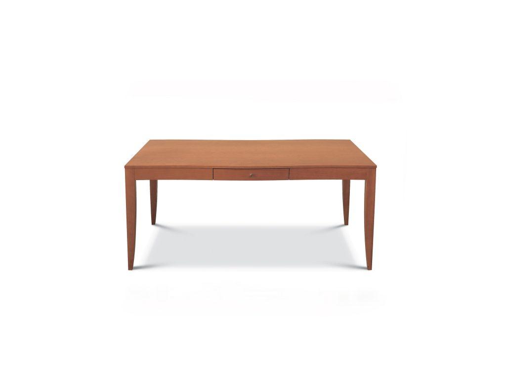 Jedálenský stôl ferdinand so zásuvkou , Brik Kremnica, dub a buk masívne nohy, nostalgia