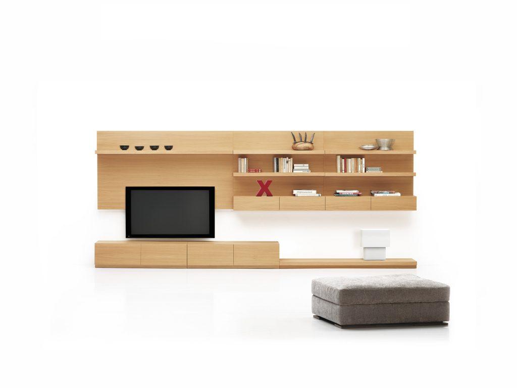 Moderná, minimalistická, dizajnová, obývacia, TV stena , dub, buk - Brik Kremnica