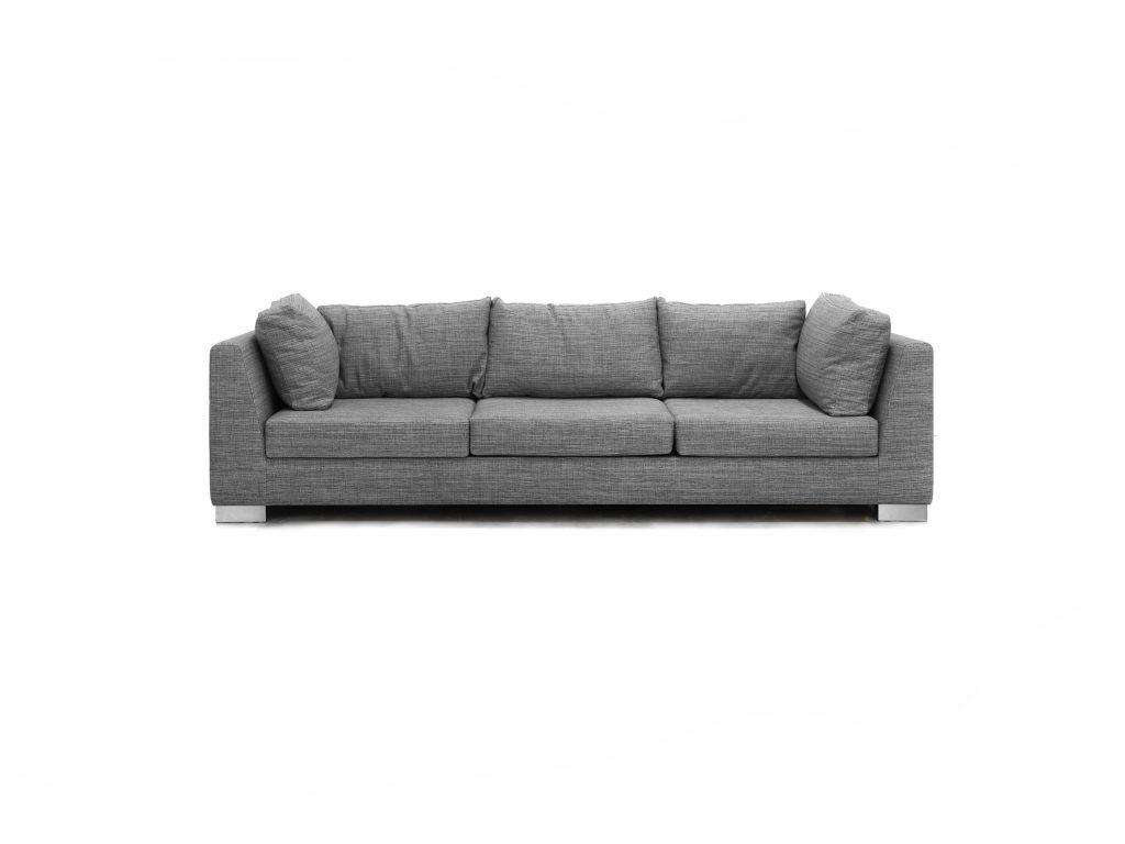 Látková sedačka Fox, sivá, šedá, a vankúšami, Brik Kremnica