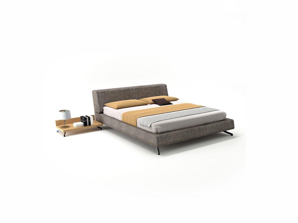Čalúnená posteľ MEDEA , nočné stolíky dub, buk, Kremnica BRIK
