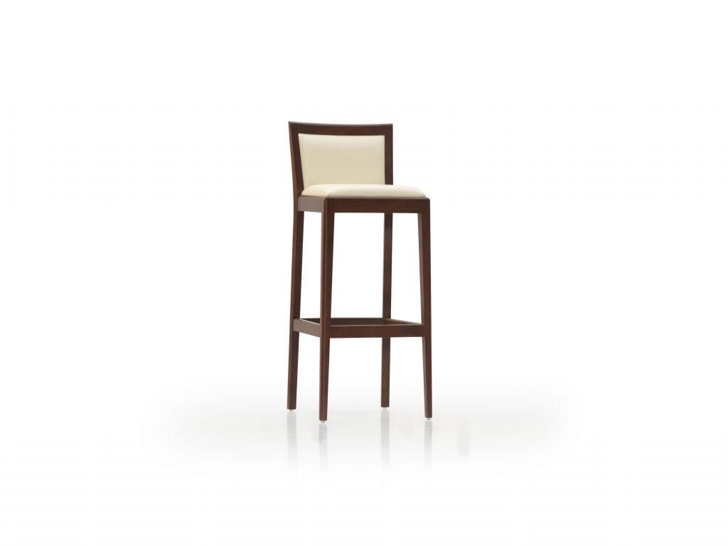 Barová stolička MICA, čalúnená, masívna , DUB