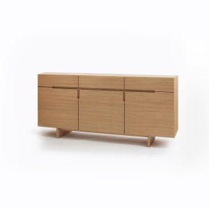 Dizajnová komoda PURA , dub alebo buk, BRIK Kremnica