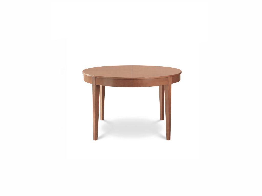 Jedálenský stôl Okrúhly 3 roťahovací , masívny dub a buk, BRIK Kremnica