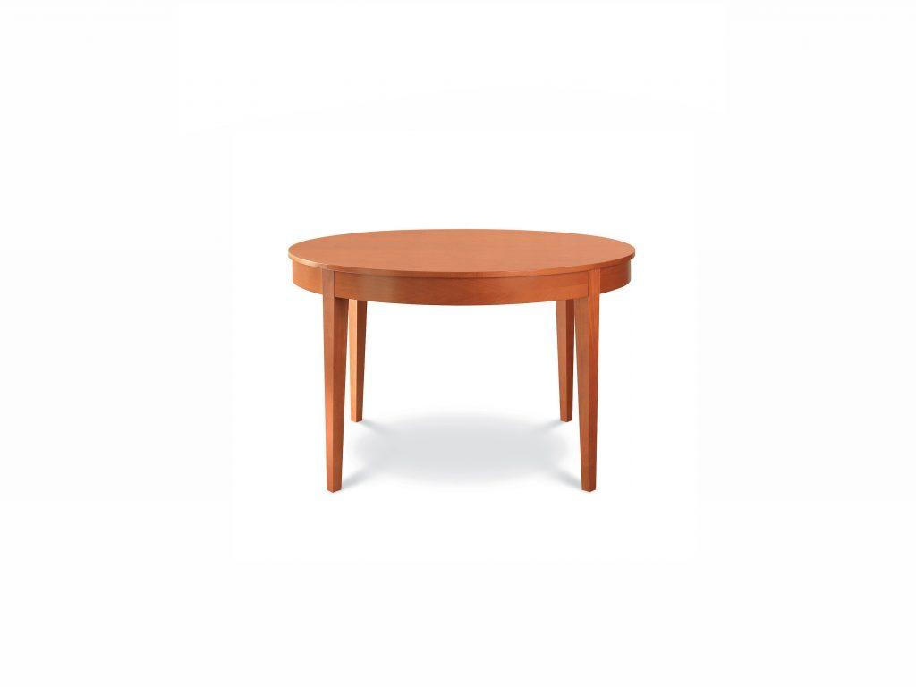 Masívny okrúhly jedálenský stôl Okrúhly 2, Brik Kremnica, dub a buk
