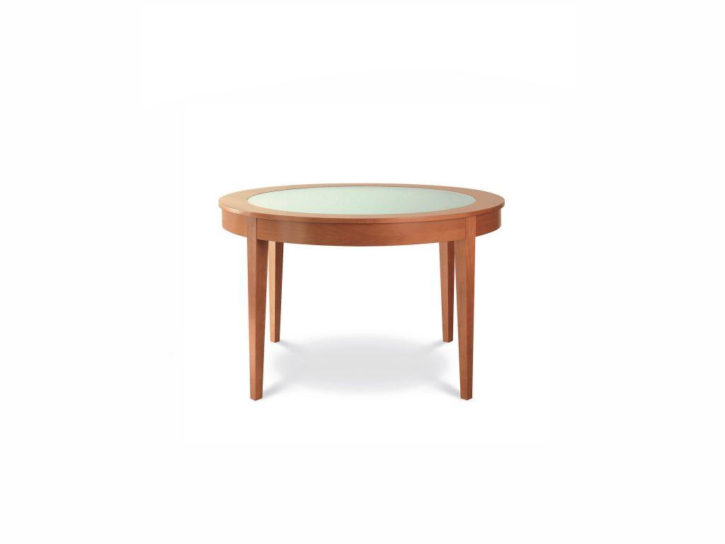Okrúhly jedálenský stôl so sklom , Okrúhly 2, BRIk , dub a buk masív