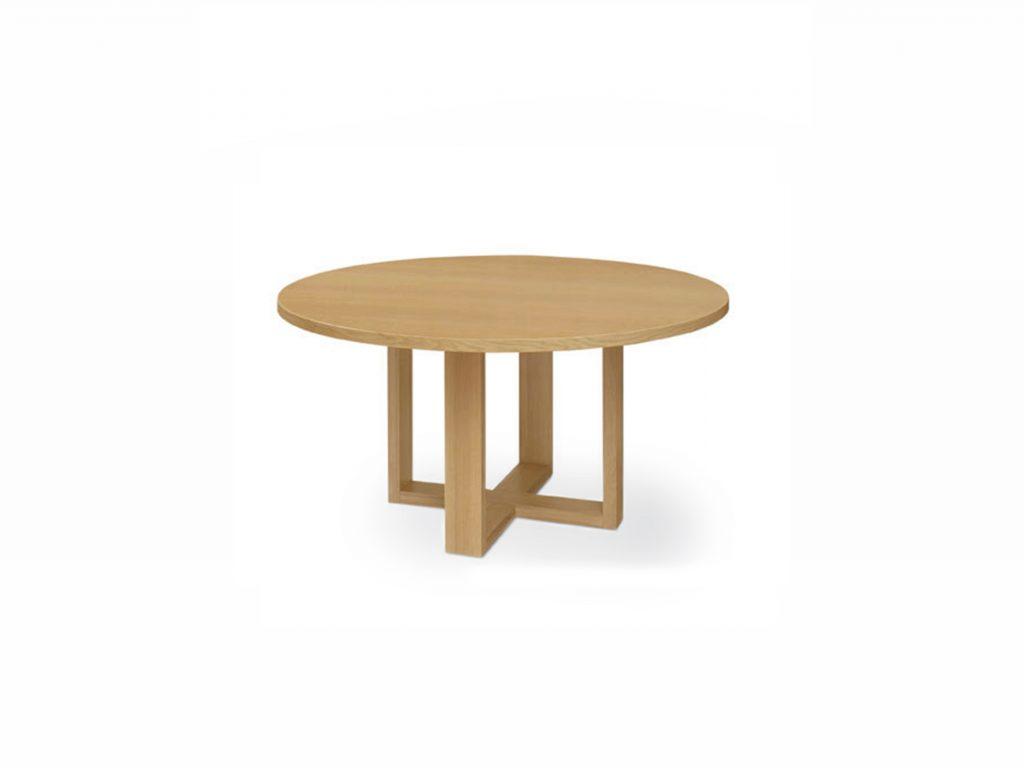 Okrúhly jedálenský stôl ORBIS , dub, buk masív, BRIK Kremnica