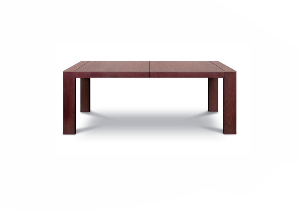 Jedálenský rozťahovací stôl KUBO , robustné nohy, dub, buk, rozťahovací mechanizmus, Brik Kremnica