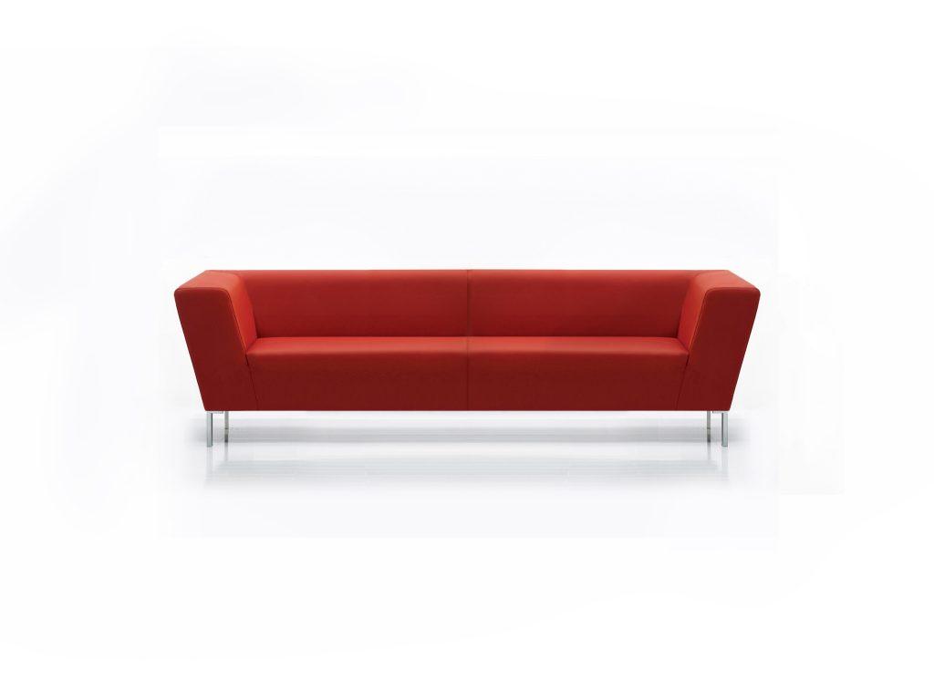 Kožená červená sedačka MIA, BRIK , dizajnová, moderná