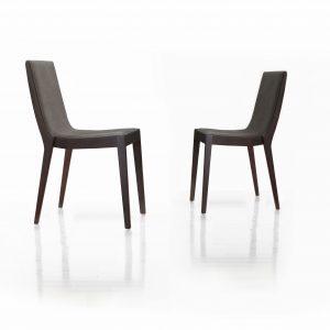 moderná dizajnová stolička MONTE, Brik KRemnica, čalúnená sivá látka, moderný dizajn