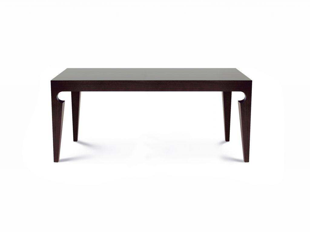 Dizajnový stôl ROMAN , dub wenge, tmavý, nohy vykrojené. Brik Kremnica