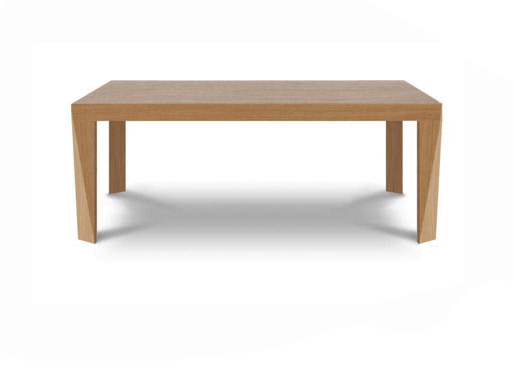 Dizajnový jedálenský stôl Sting, so skosenými nohami, buk, dub, Brik Kremnica