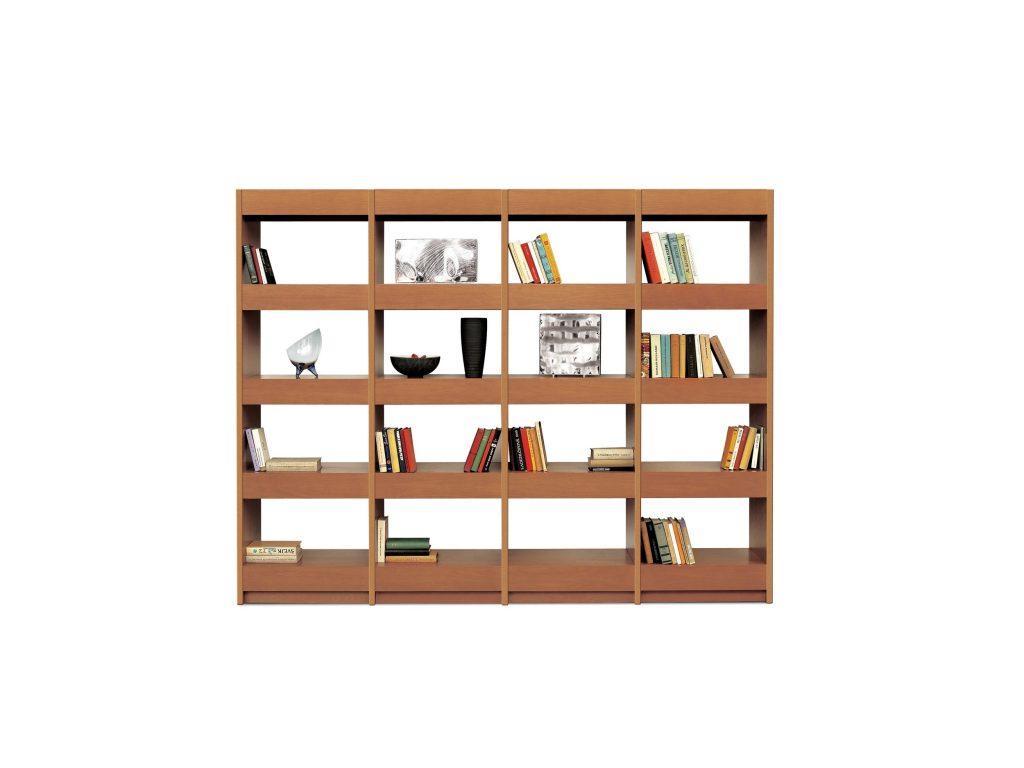 Jednoduché línie Knižnice Horizont, kombinácia poličiek a zásuviek, Brik kremnica
