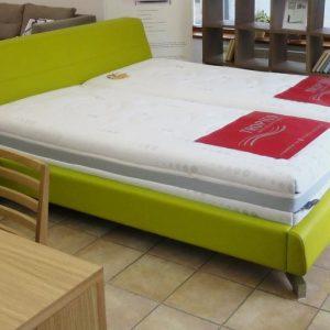 Čalúnená posteľ Medea, zelená koža, Kremnica